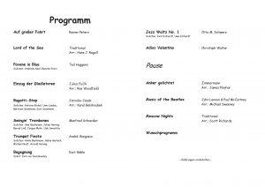 2011 - Wunaschlonzert - Programm
